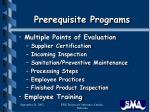 prerequisite programs