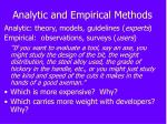 analytic and empirical methods