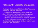 discount usability evaluation