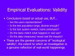 empirical evaluations validity