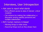 interviews user introspection