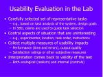 usability evaluation in the lab