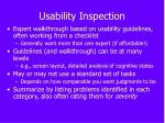 usability inspection