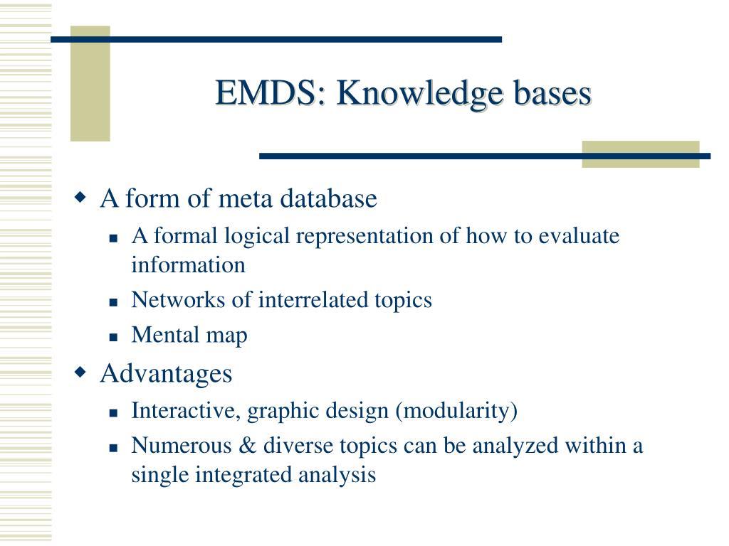 EMDS: Knowledge bases