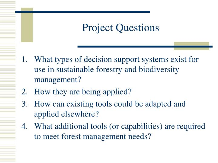 Project questions