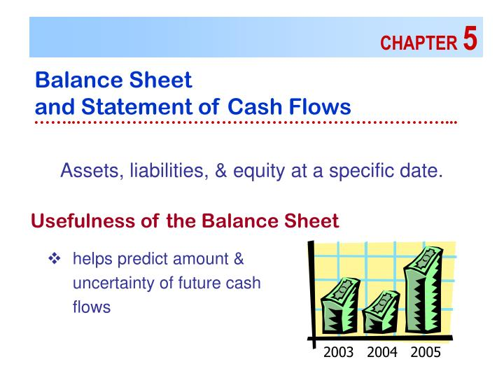 chapter 5balance sheet and statement of