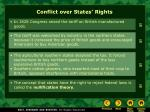 conflict over states rights