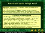 nationalism guides foreign policy