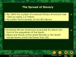the spread of slavery34