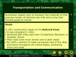 transportation and communication