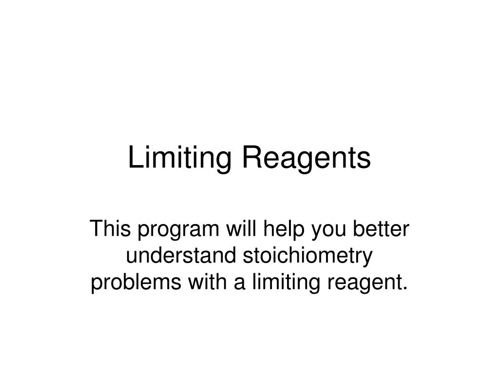 limiting reagents l.