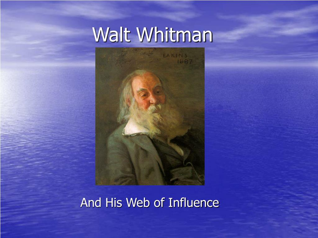 the life and times of walt whitman Today marks the 198th anniversary of walt whitman's birth we look at some colorful facts about the poet's life and work whitman was known to be a fiery editor who got fired often as a.