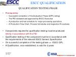 qualification testing phase