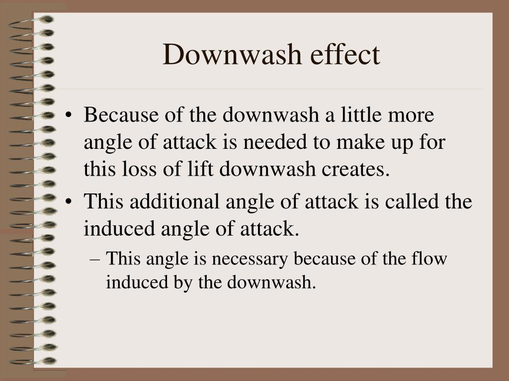 Downwash effect