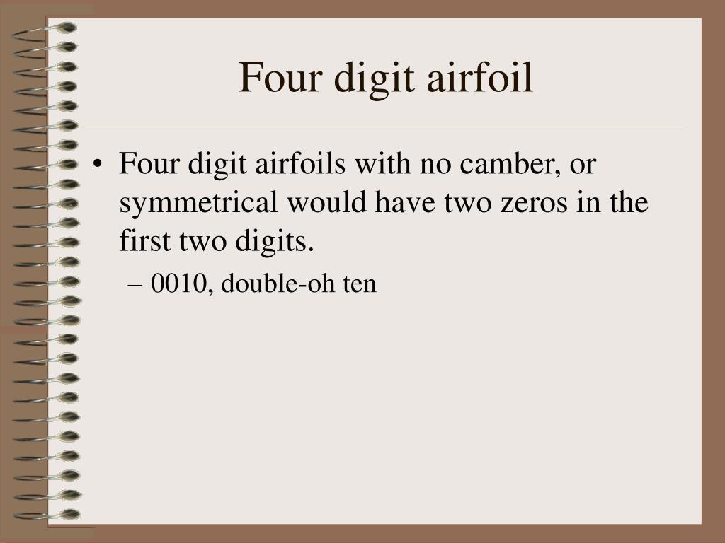 Four digit airfoil