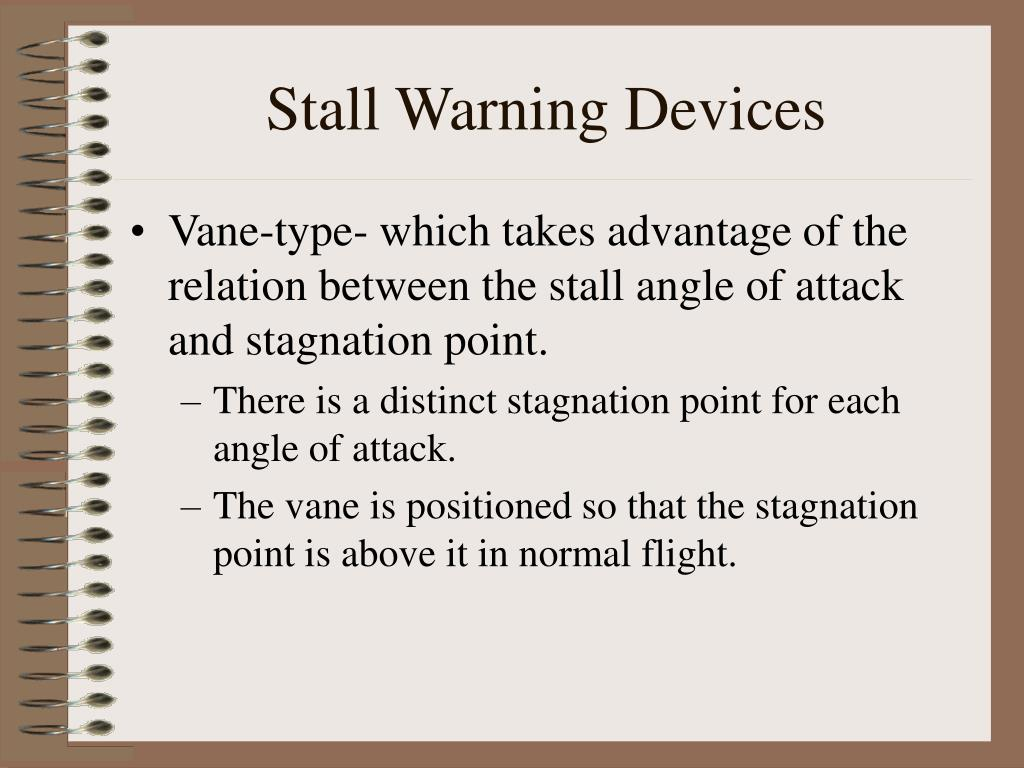 Stall Warning Devices