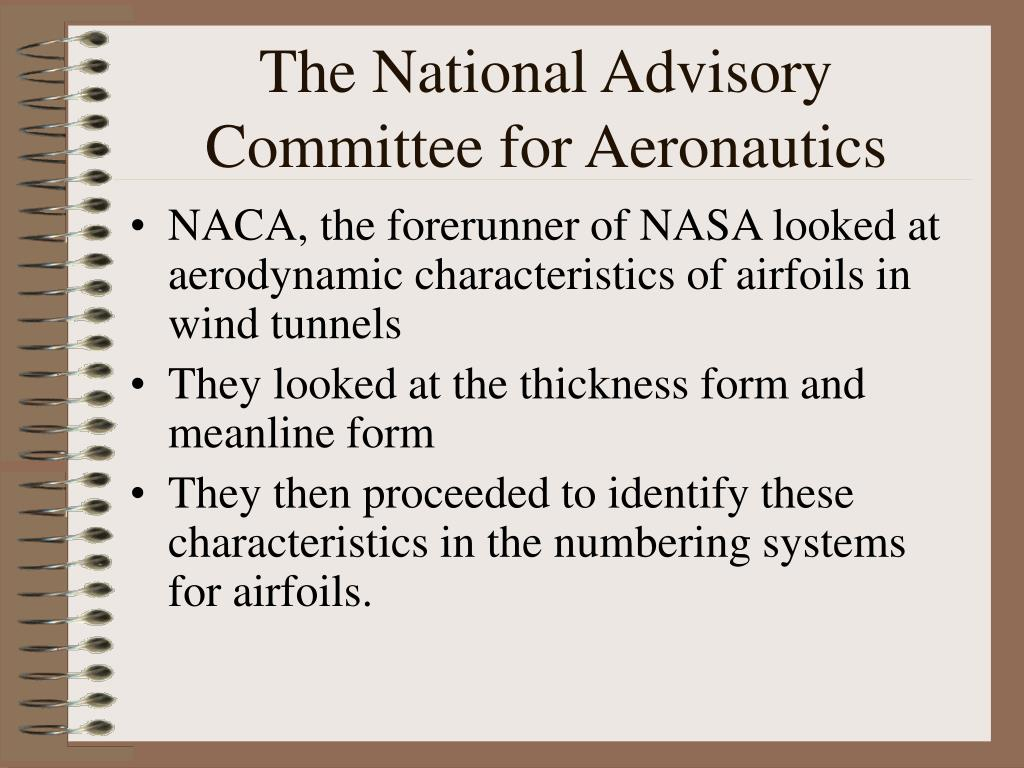 The National Advisory Committee for Aeronautics