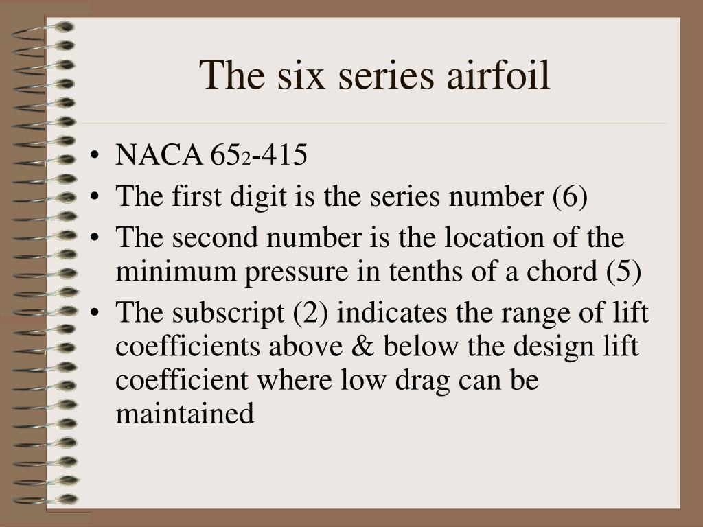 The six series airfoil