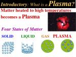 introductory what is a plasma