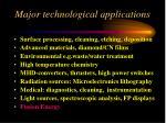 major technological applications