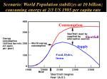 scenario world population stabilizes at 10 billion consuming energy at 2 3 us 1985 per capita rate