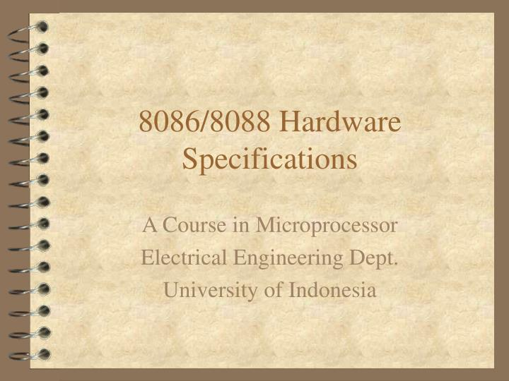 8086 8088 hardware specifications n.