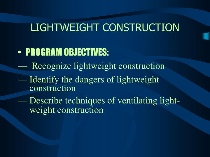 Lightweight construction2