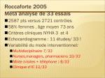 roccaforte 2005 m ta analyse de 33 essais