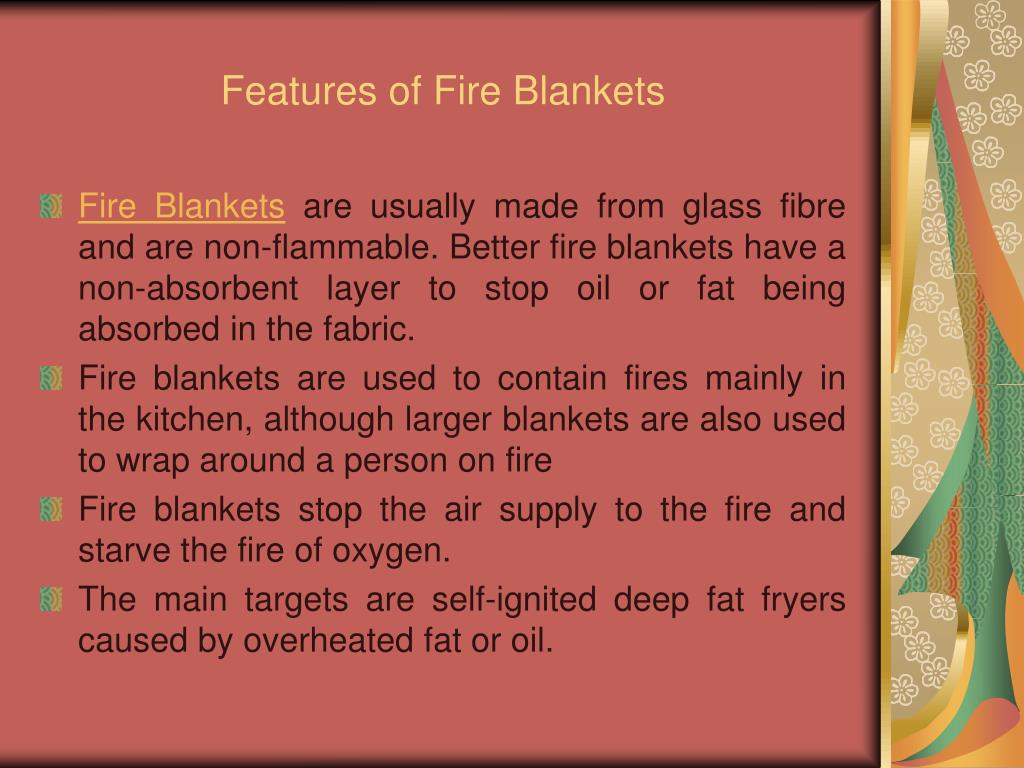 Features of Fire Blankets