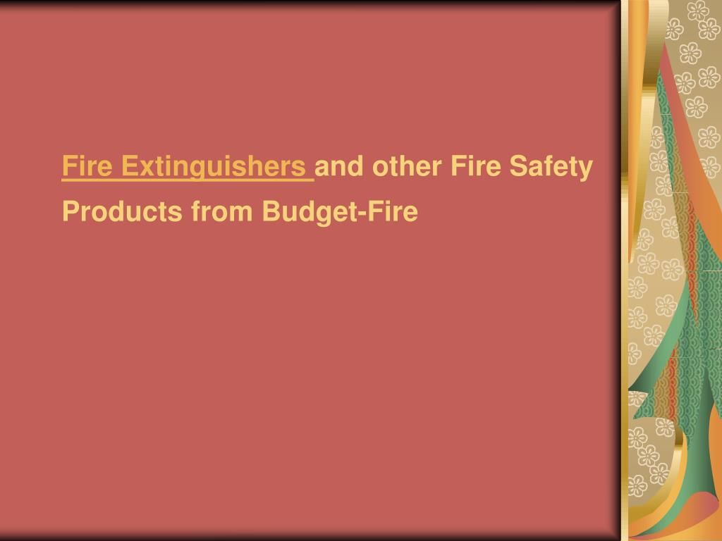 fire extinguishers and other fire safety products from budget fire l.