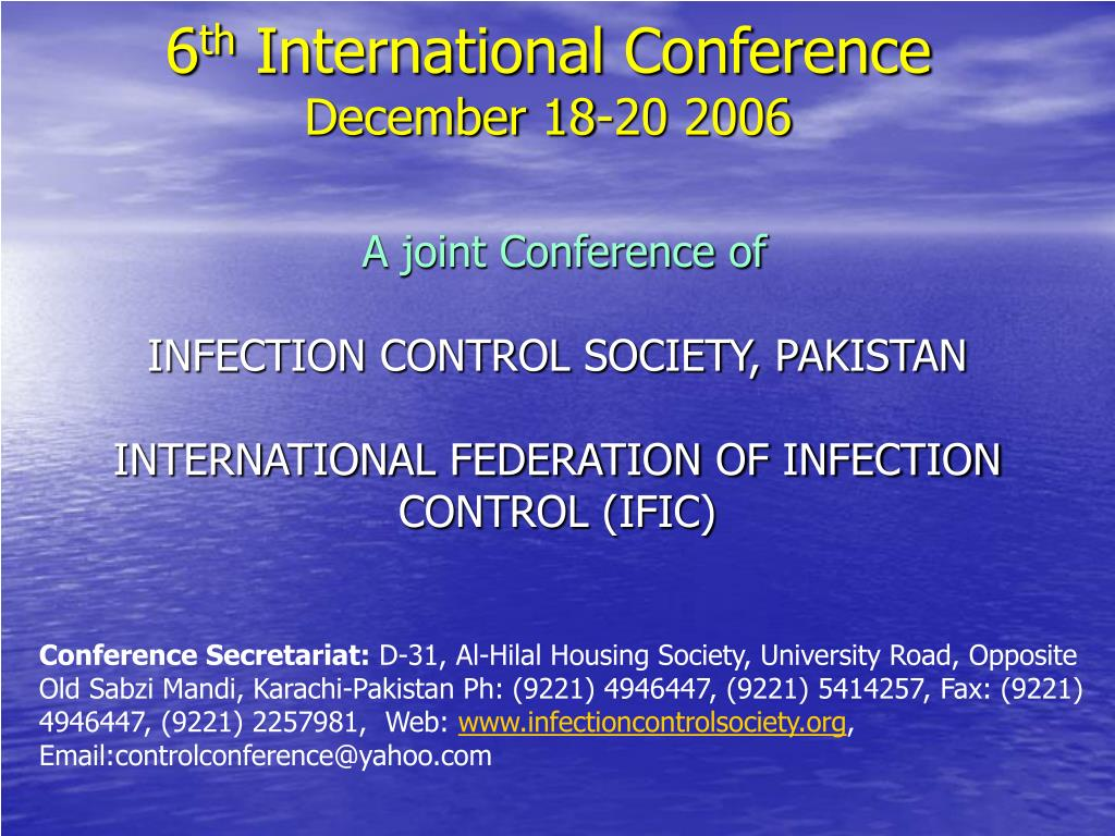 6 th international conference december 18 20 2006 l.