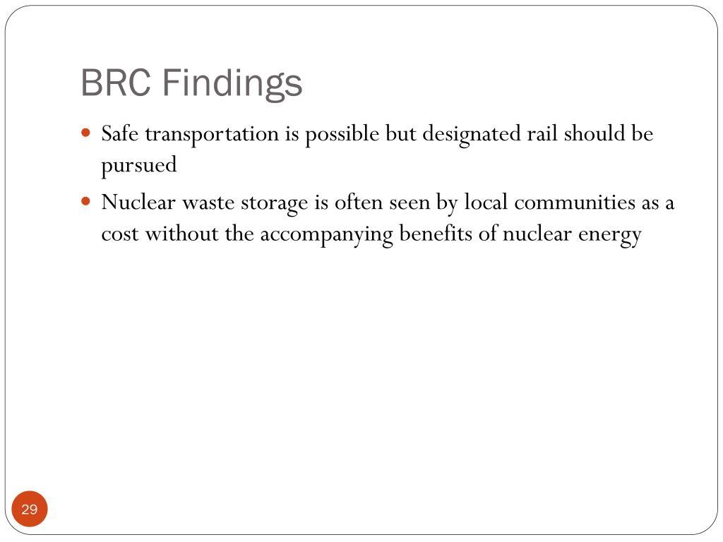 BRC Findings
