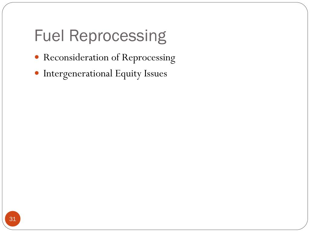 Fuel Reprocessing