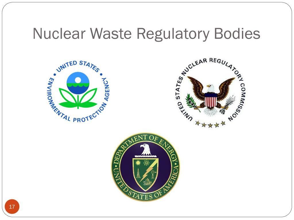 Nuclear Waste Regulatory Bodies