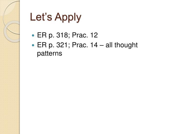 Let's Apply
