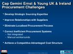 cap gemini ernst young uk ireland procurement challenges