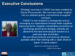 executive conclusions13