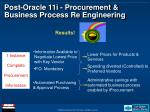 post oracle 11i procurement business process re engineering