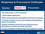 responses to procurement challenges