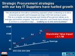 strategic procurement strategies with our key it suppliers have fuelled growth