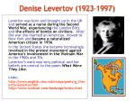 denise levertov 1923 1997