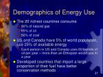 demographics of energy use