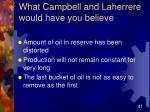 what campbell and laherrere would have you believe