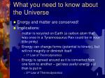 what you need to know about the universe