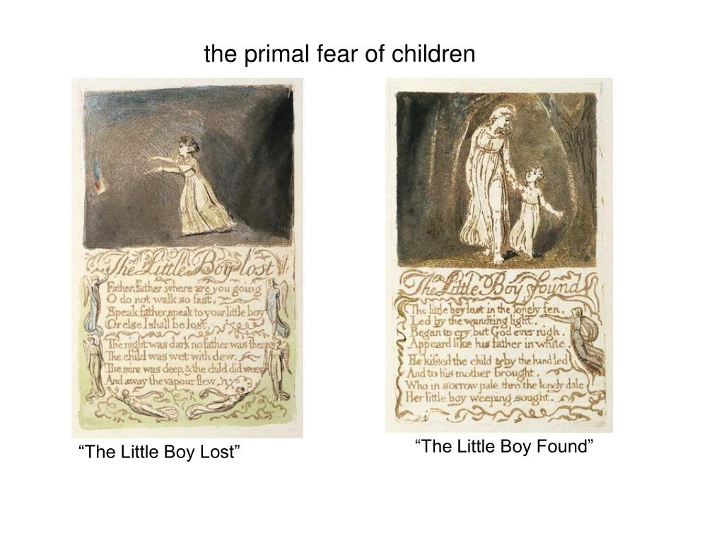 the primal fear of children