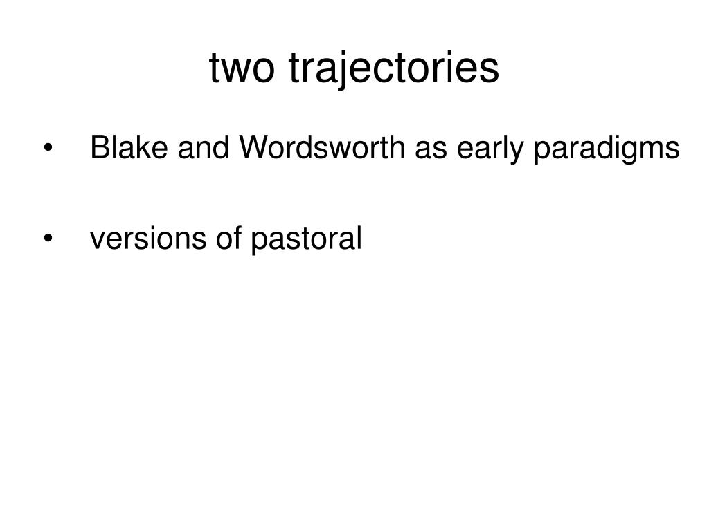 two trajectories