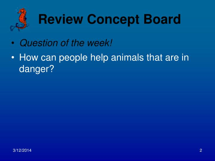 Review concept board