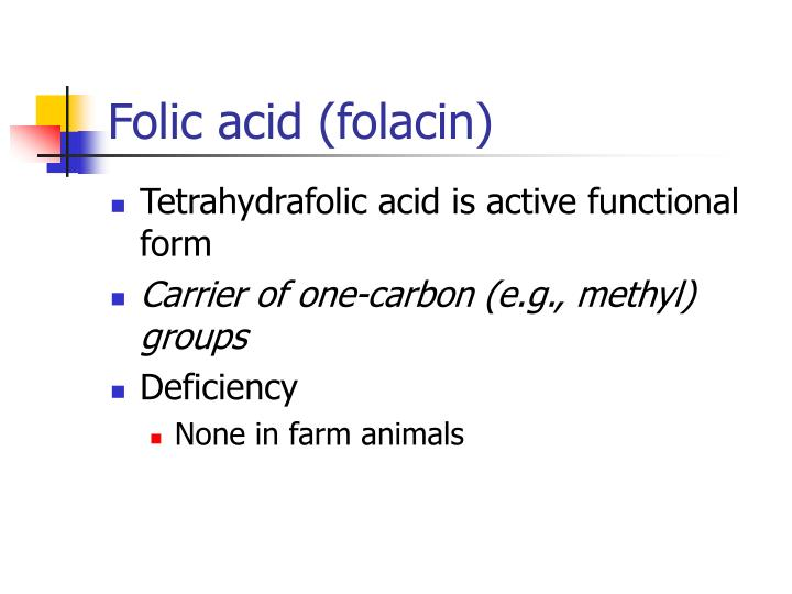 clinical uses of folic acid Folic acid, or folate, is the chemical name for a vitamin also known as vitamin b9 or vitamin m, which doctors prescribe for anemia the information on this page has been compiled for use by healthcare practitioners and consumers in the united states and therefore neither everyday health or its licensor.