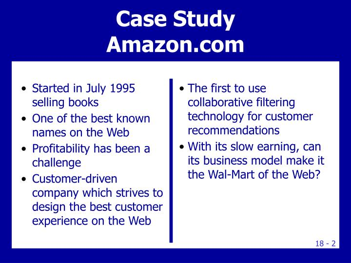 case study of amazon com Amazon headquarters 2 case study the rfp spells out specific quantitative real estate requirements and qualitative market requirements such as square footage needed, proximity to transportation and zoning conditions.