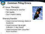 common filing errors